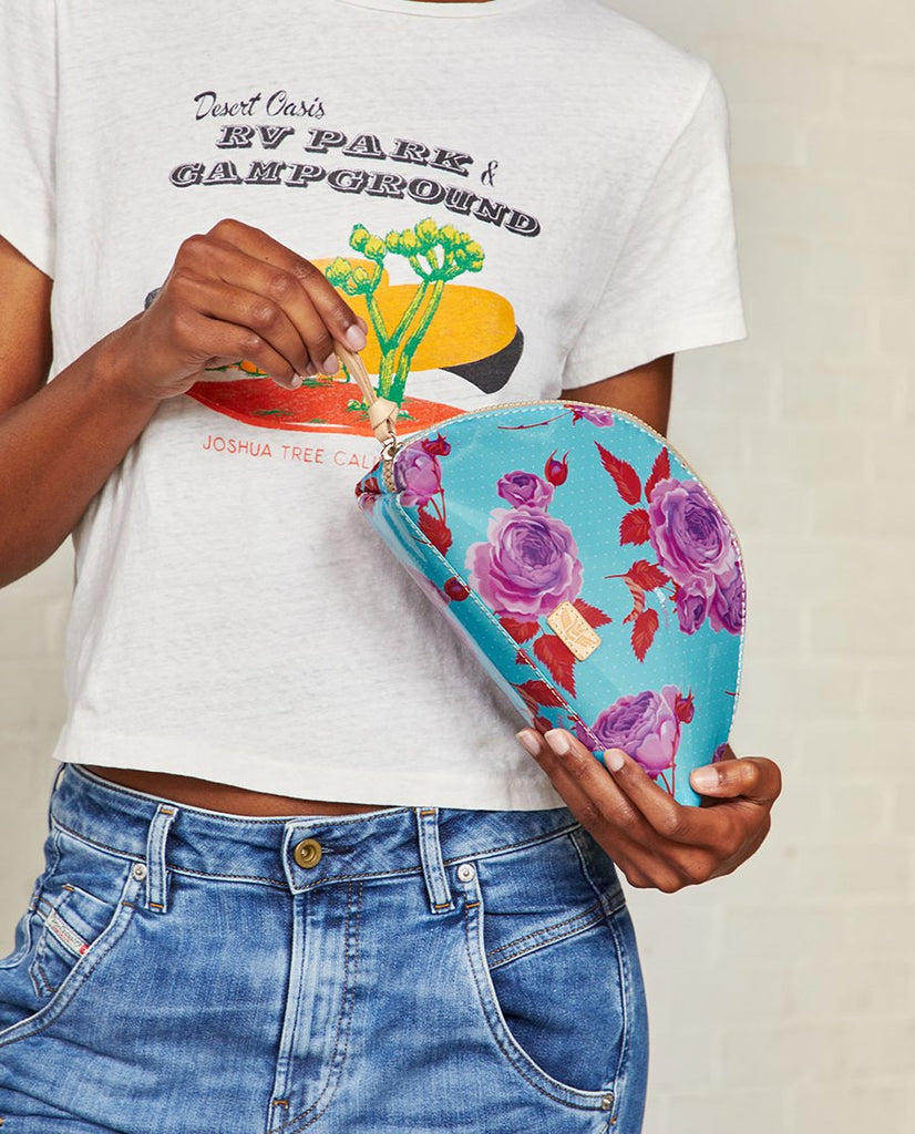 Consuela Large Cosmetic Bag- Mimi Flower Power