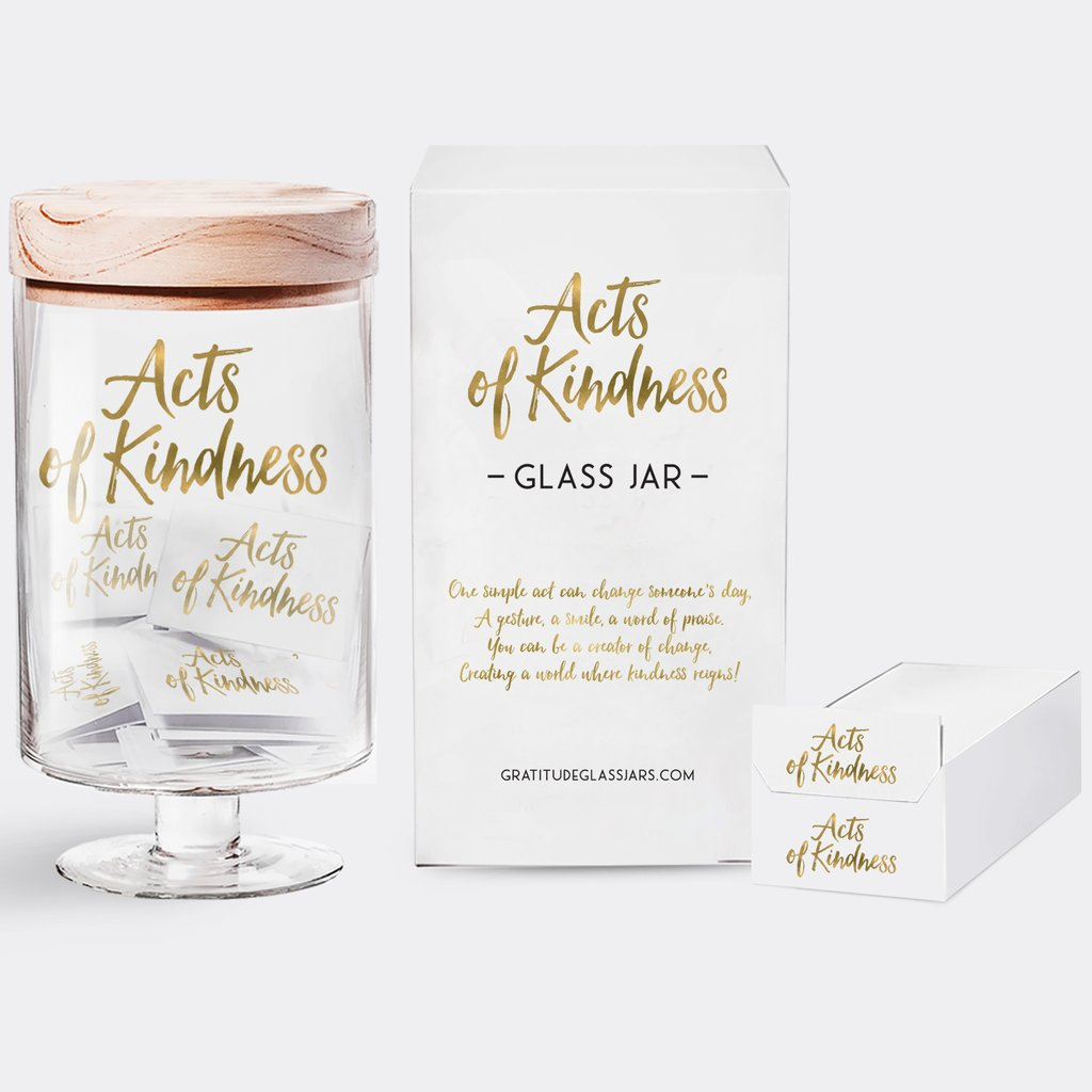 Gratitude Glass Jar - Acts of Kindness