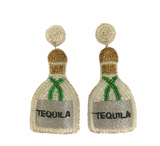 Beaded Earrings -Tequila