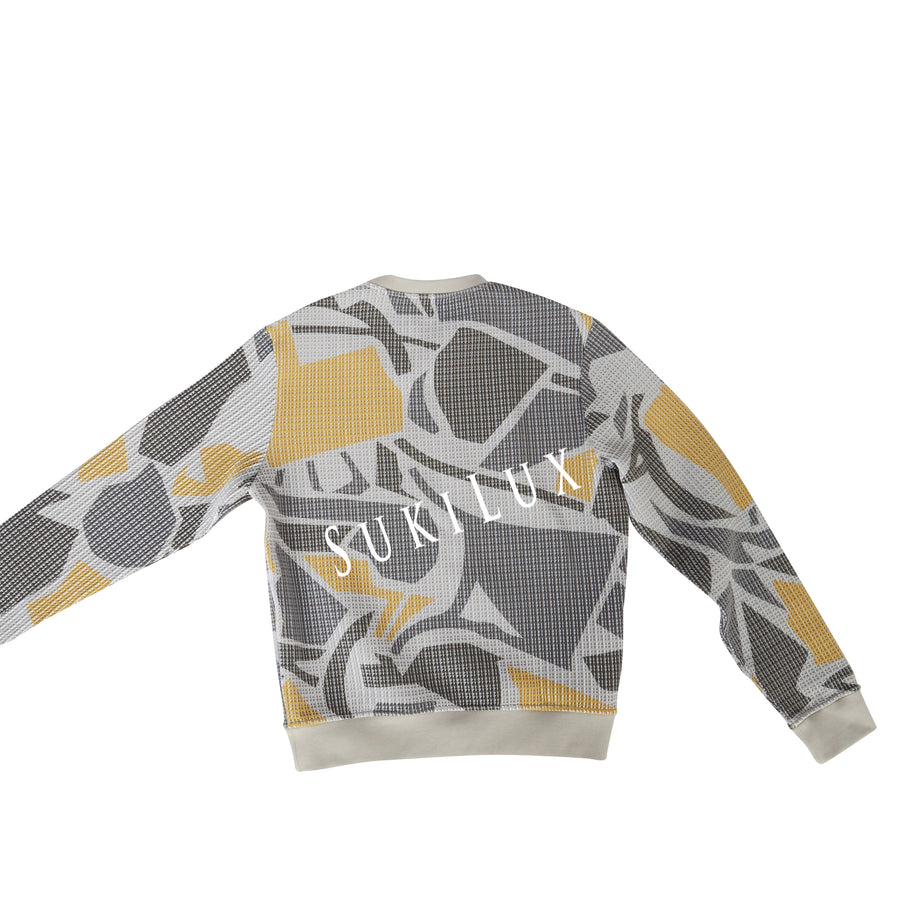 """Puzzle 3D"" crewneck sweater"