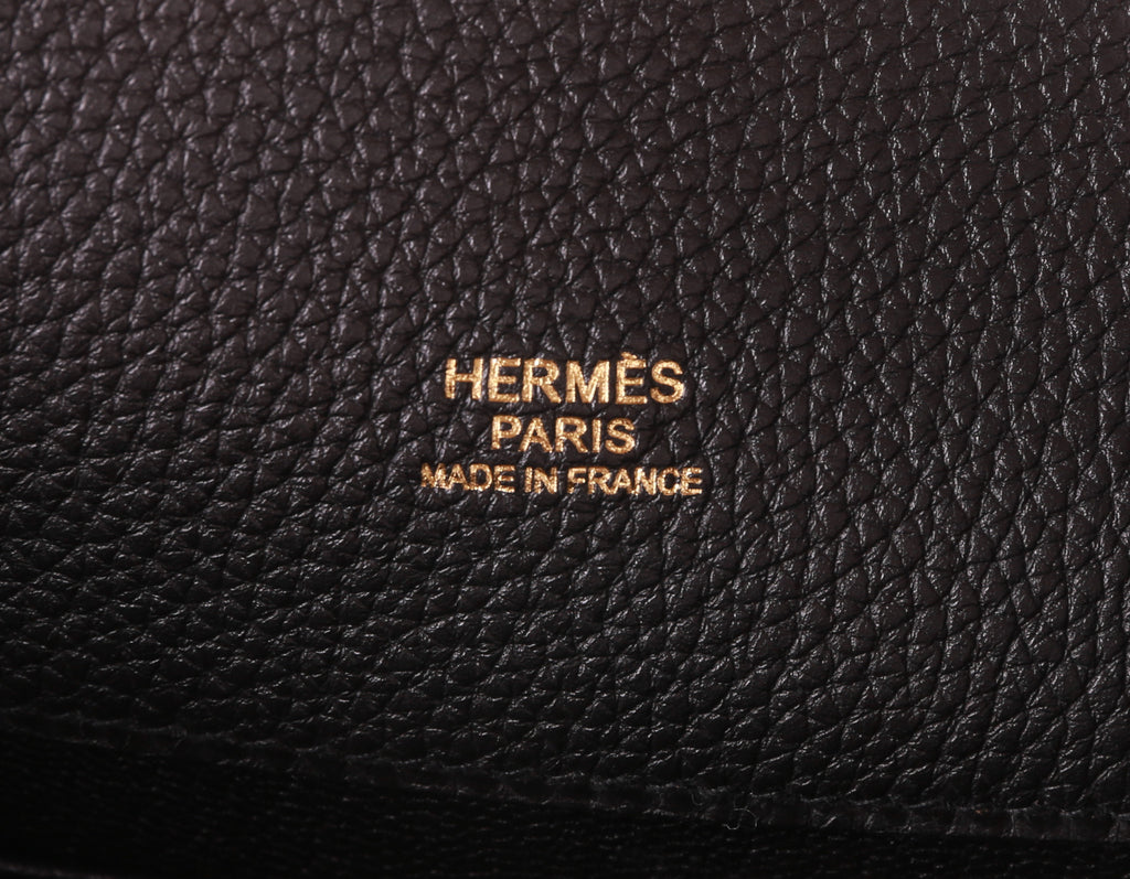 Hermès So-Kelly 26cm Noir 89 Togo Leather Gold Hardware