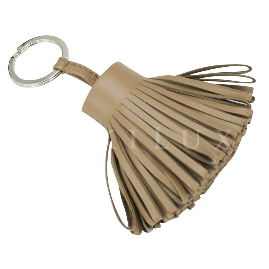 Hermès Lambskin Carmen Tassel Key Chain/ Holder/ Ring
