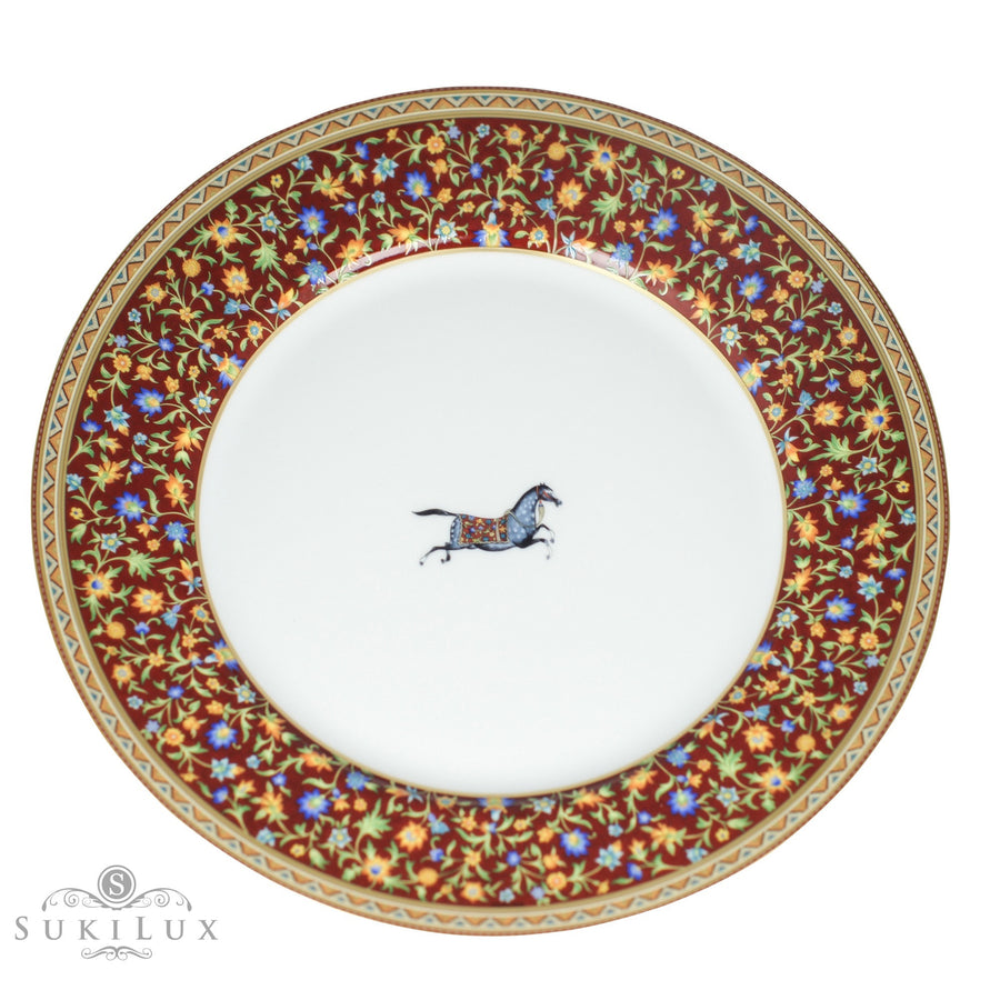 Hermès Cheval D'Orient American Dinner Plate and Serving Dish
