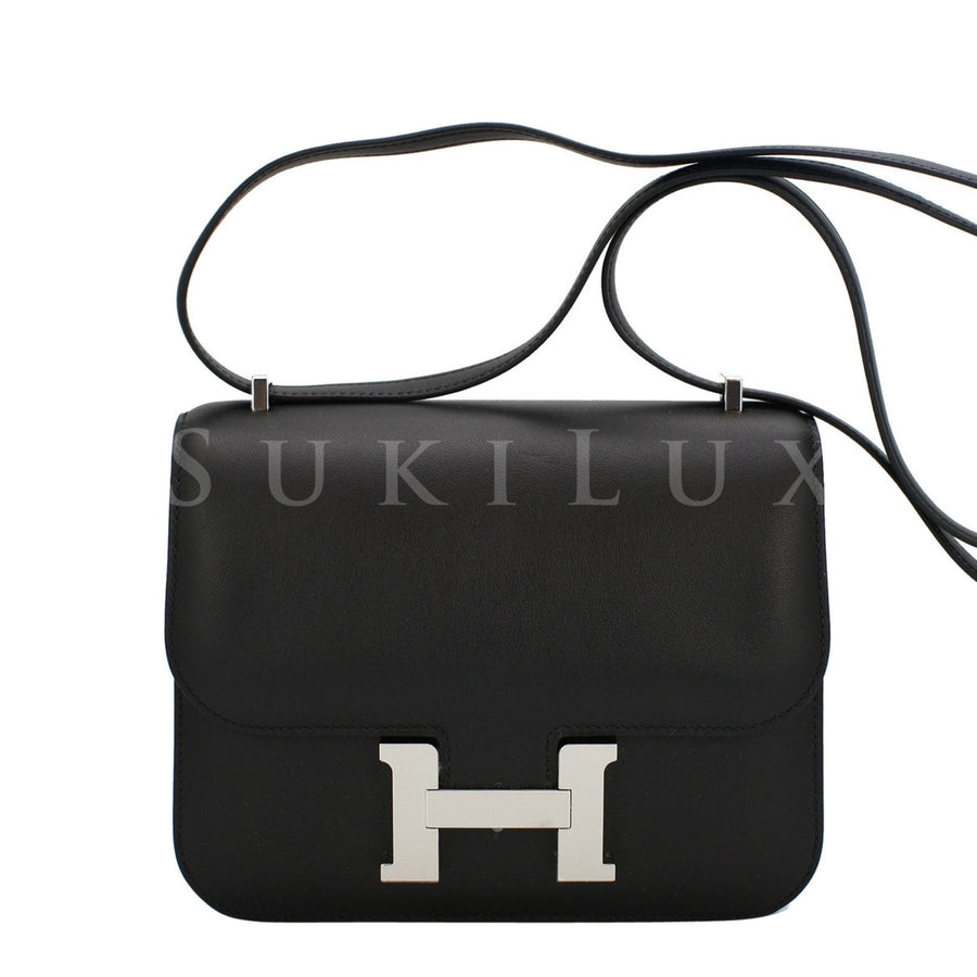 Hermès Constance III Mini 18cm Veau Epsom Noir 89 Black Leather Palladium Hardware