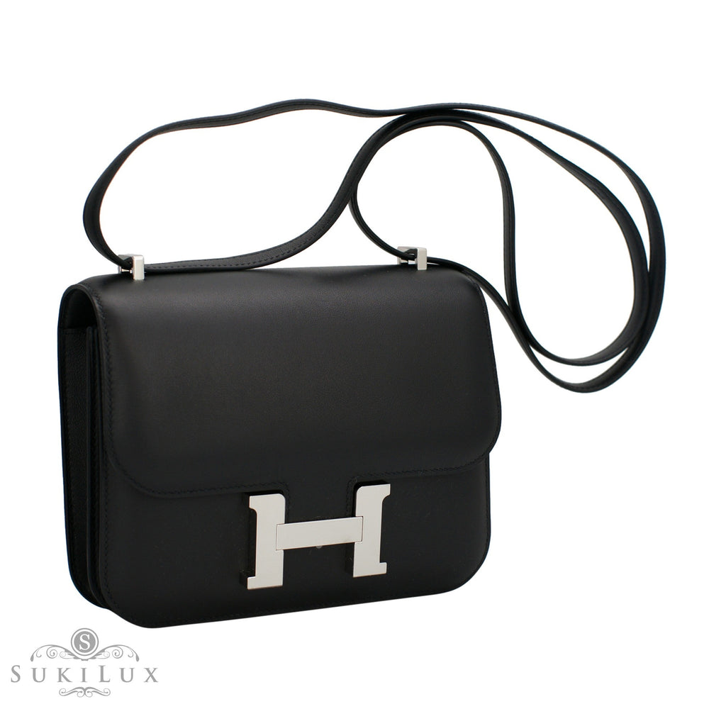 Hermès Constance III Mini 18cm Veau Swift Noir 89 Palladium Hardware