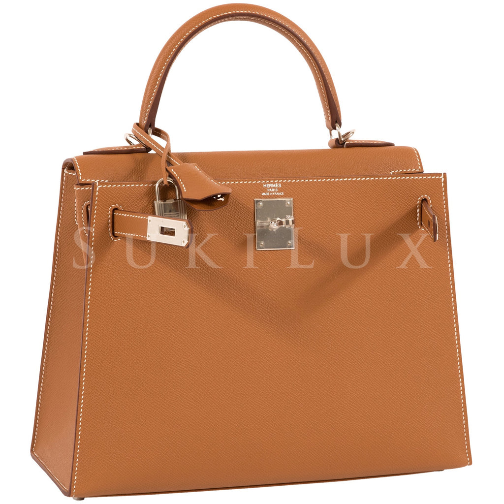 Hermès Kelly 28cm Sellier Veau Epsom Gold 37 Palladium Hardware