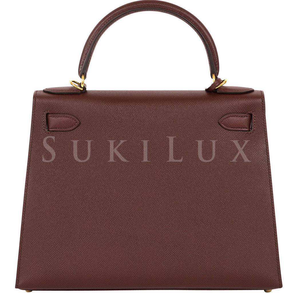 Hermès Kelly 28cm Sellier Veau Epsom Bordeaux 57 Gold Hardware