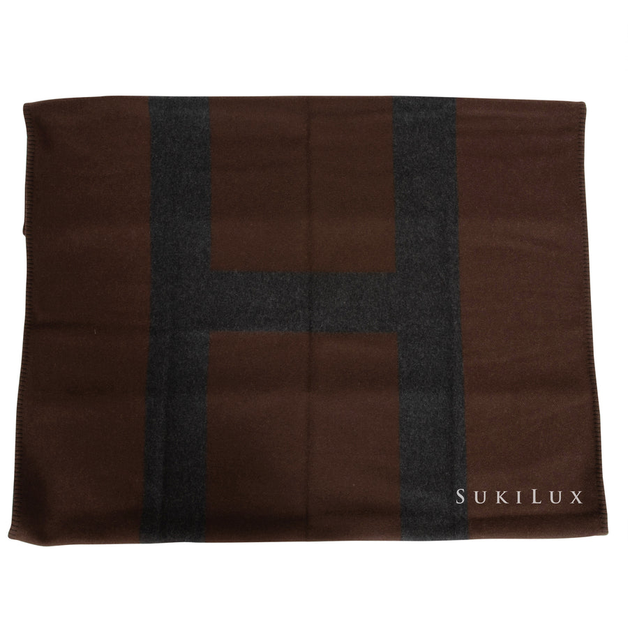 Hermès Avoine blanket Marron
