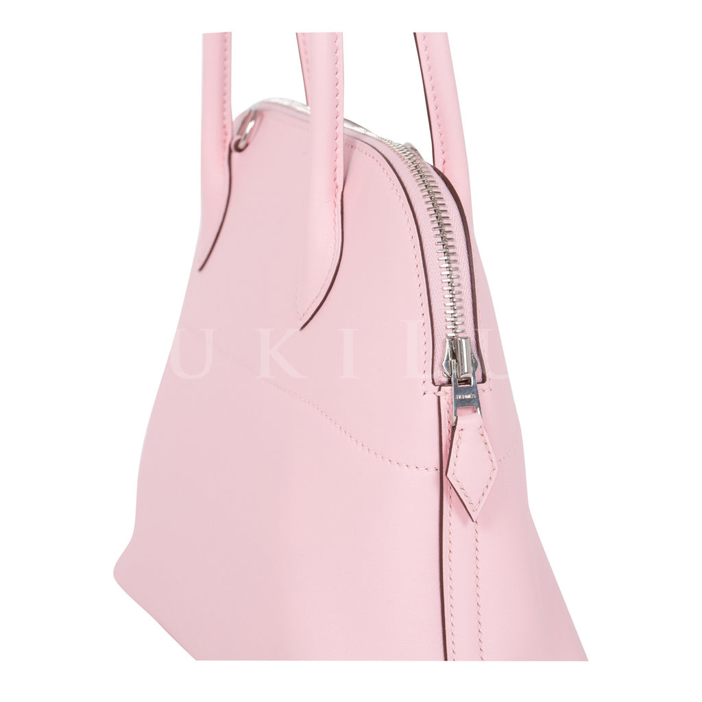 Hermès Bolide 27cm Rose Sakura 3Q Veau Swift Palladium Hardware