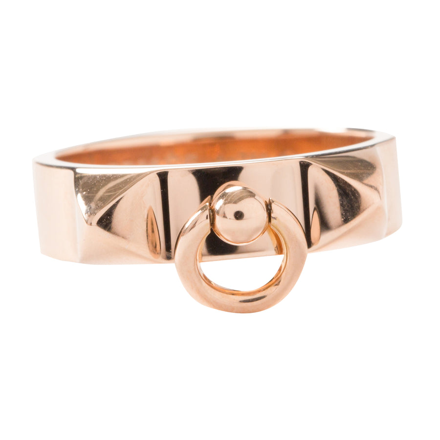 Hermès Collier De Chien Ring Rose Gold