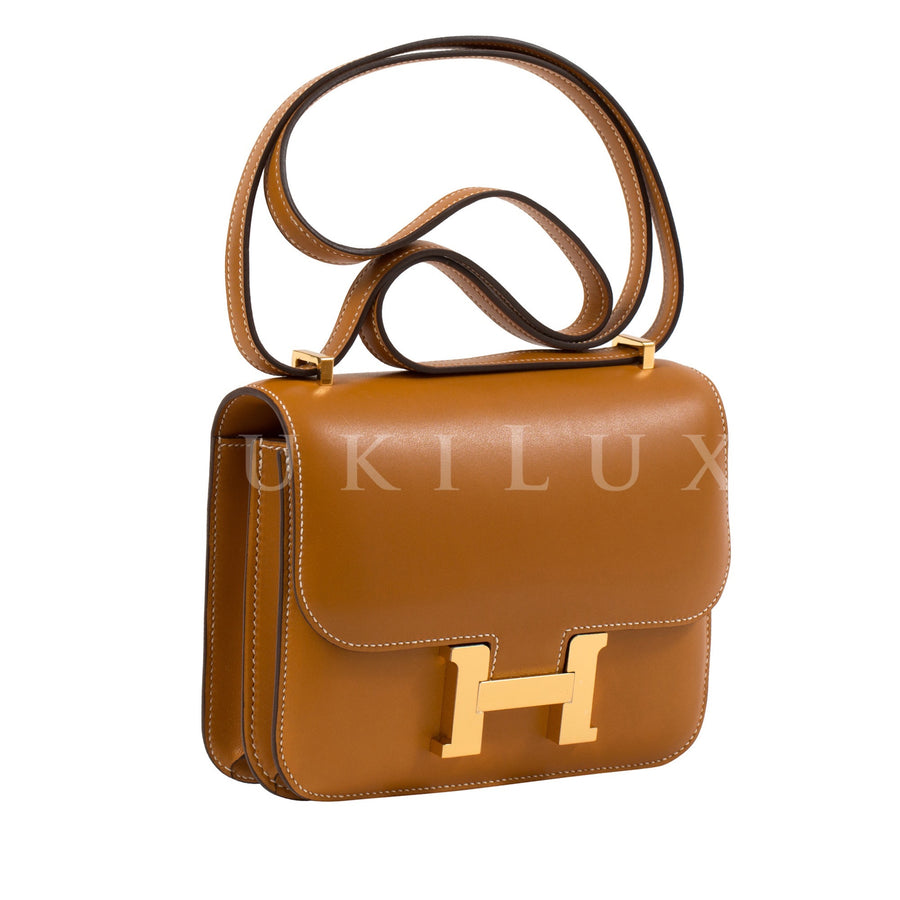 Hermès Constance III Mini 18cm Butler Natural Sable Gold Hardware