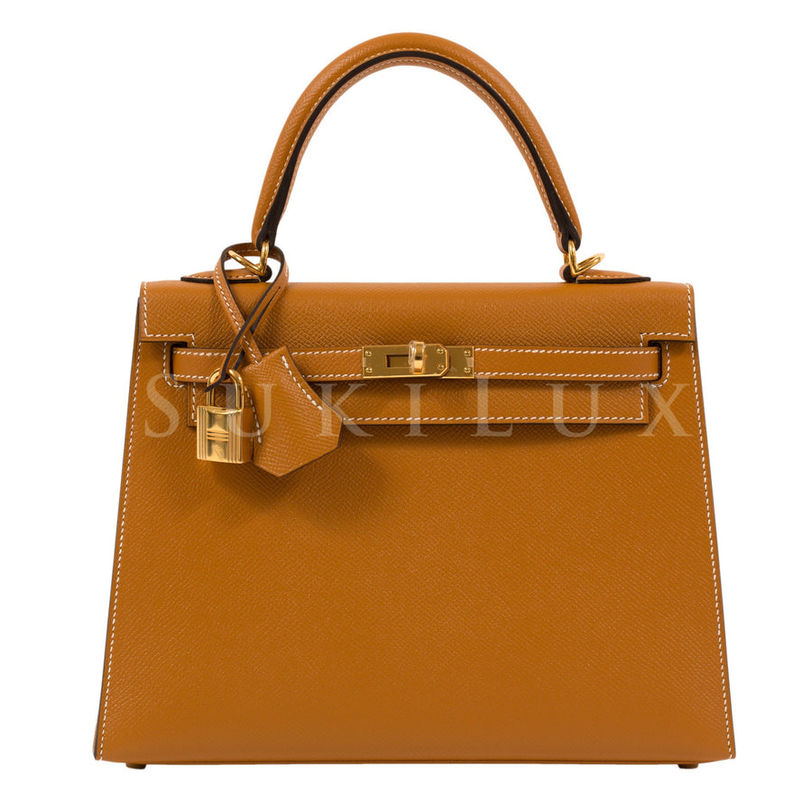 Hermès Kelly 25cm Sellier Veau Epsom 1H Toffee Gold Hardware