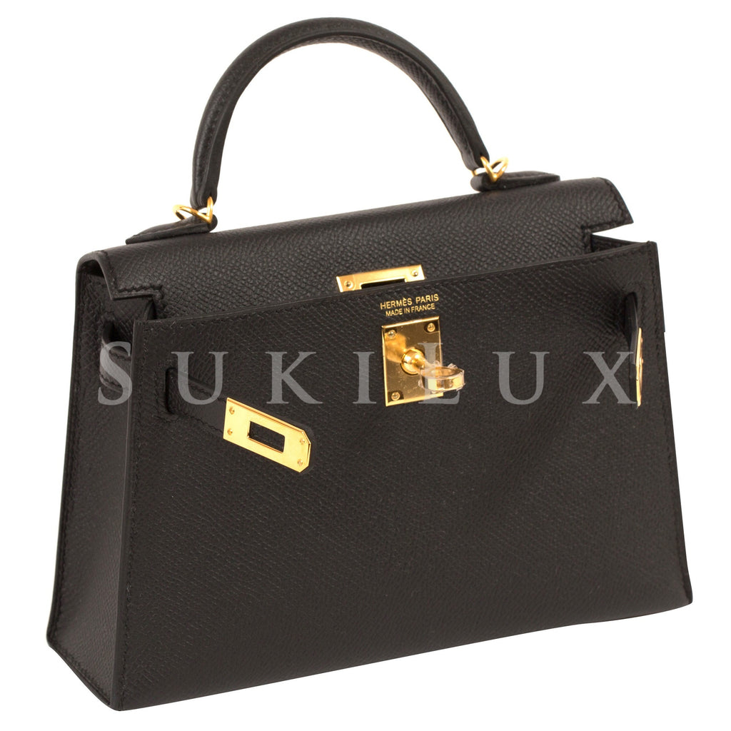 2c60029d4737 ... bag 88876 f55e9 cheap hermès minikelly ii noir 89 epsom leather gold  hardware f565a 9deb8 ...