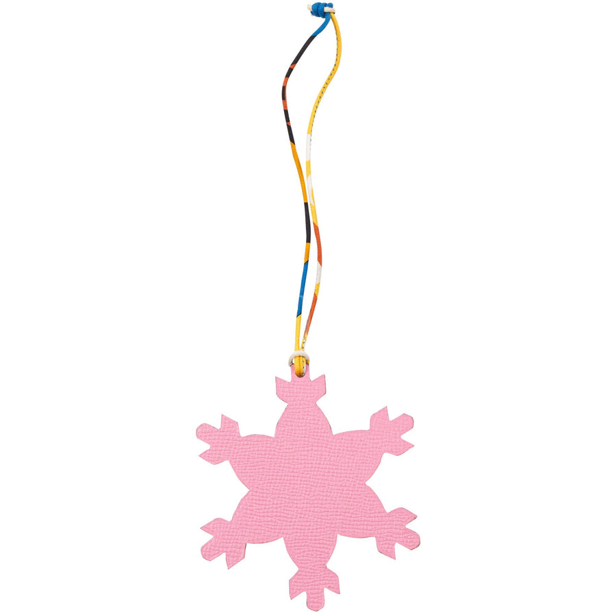 Hermès Petit H Charm Snow Flake Rose Confetti/ Orange