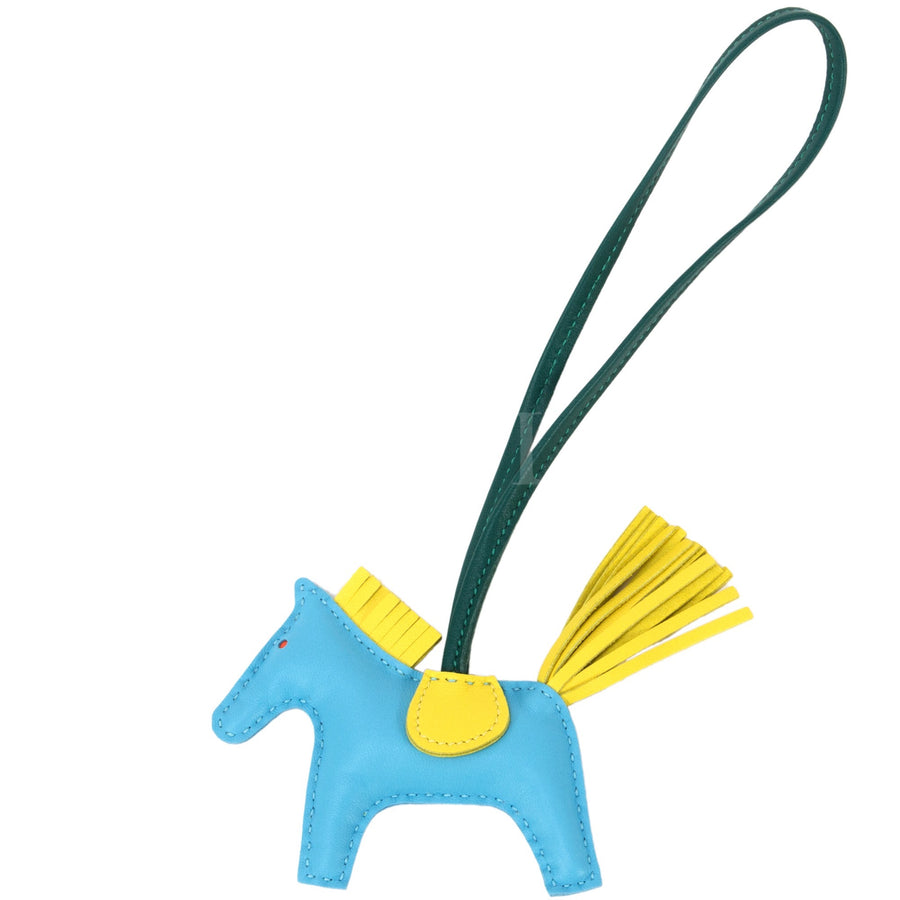 Hermès Rodeo Mini Bag Charm Bleu/ Yellow