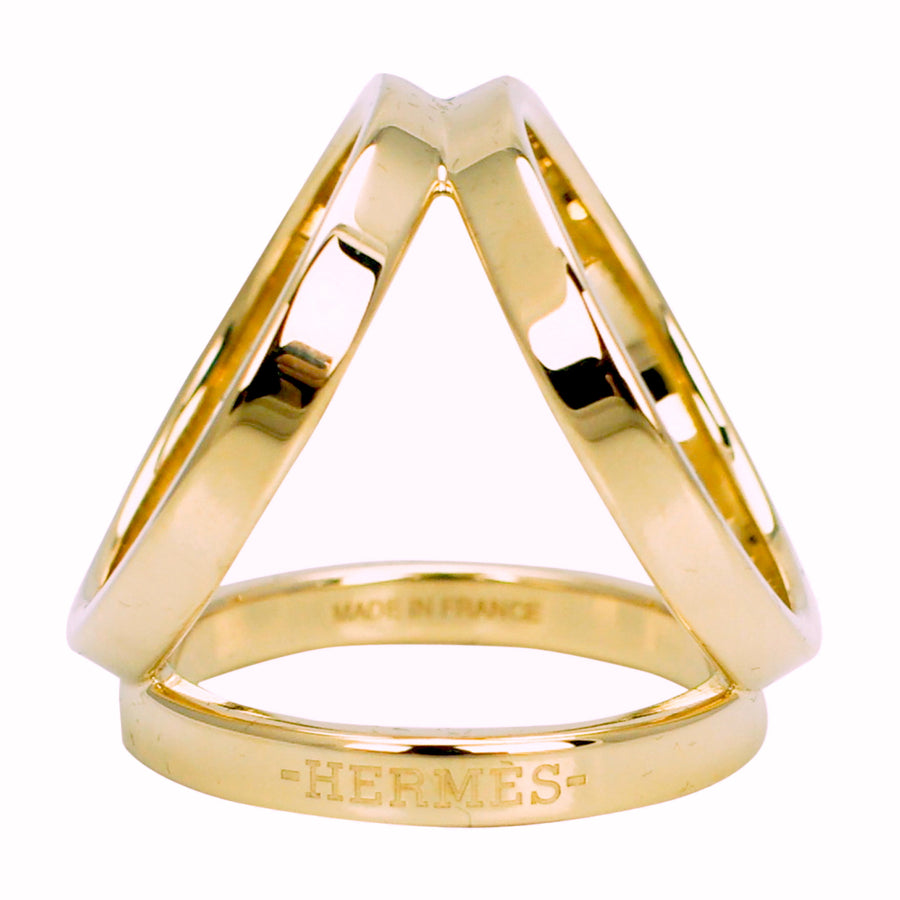 Hermès Scarf Ring Trio Gold Plated