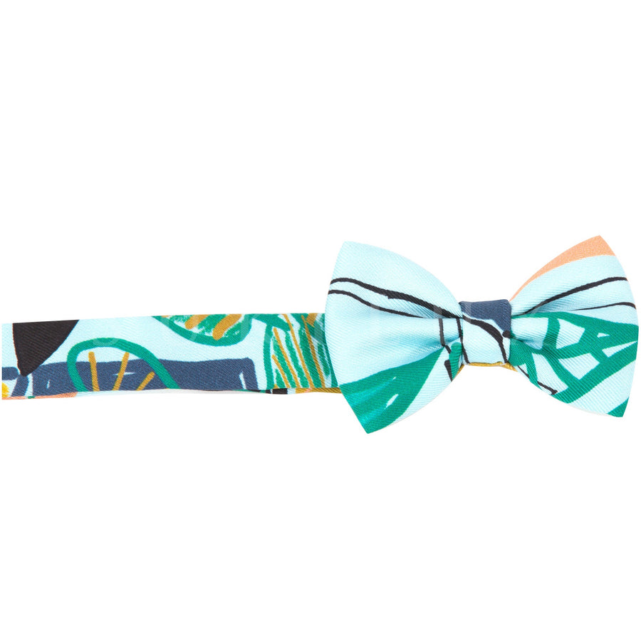Hermès Silk Bow Tie Menth/ Bleu Orange
