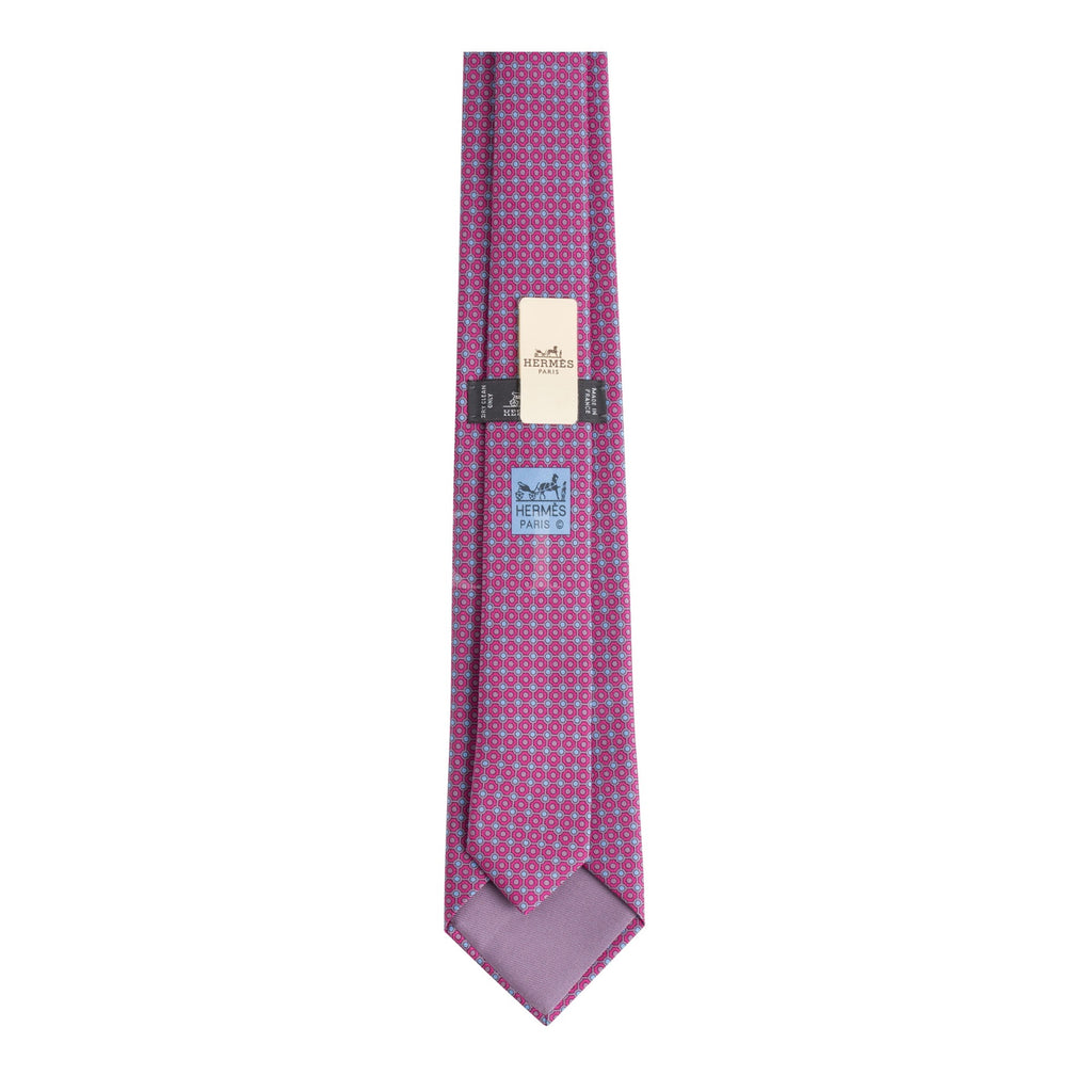 Hermès Cravate Silk Tie Bleu/ Red