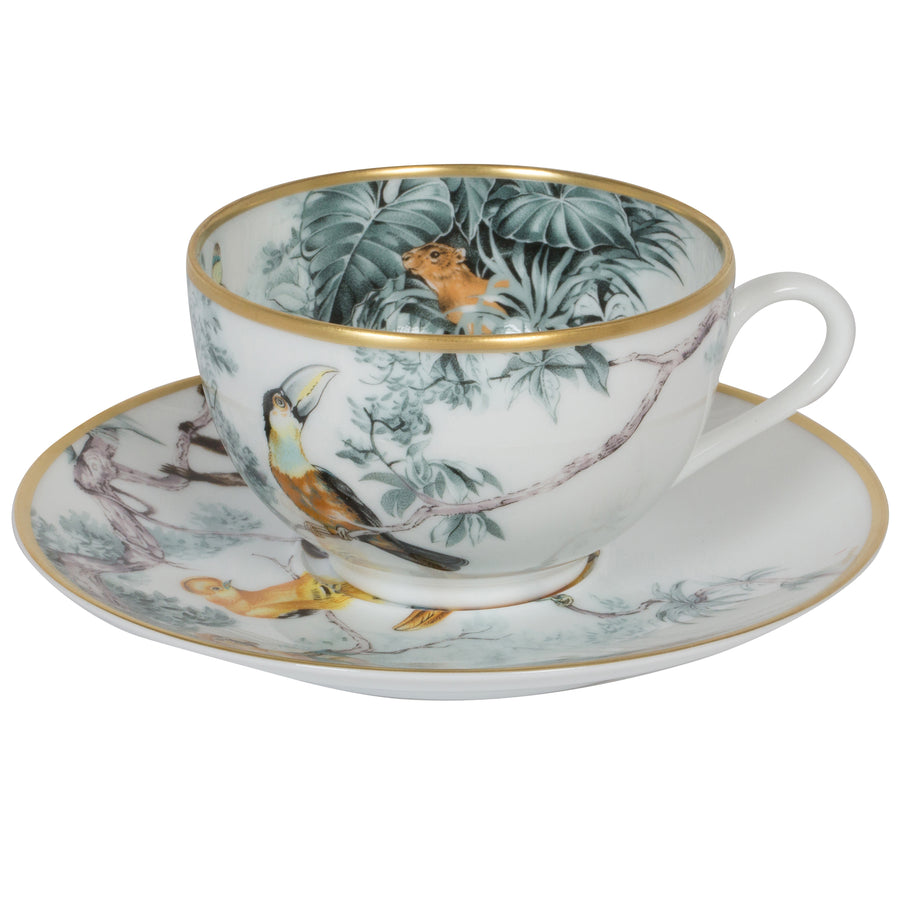 HERMÈS CARNETS D'EQUATEUR BREAKFAST CUP AND SAUCER