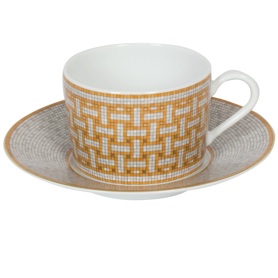 HERMÈS MOSAIQUE AU 24 TEACUP AND SAUCER
