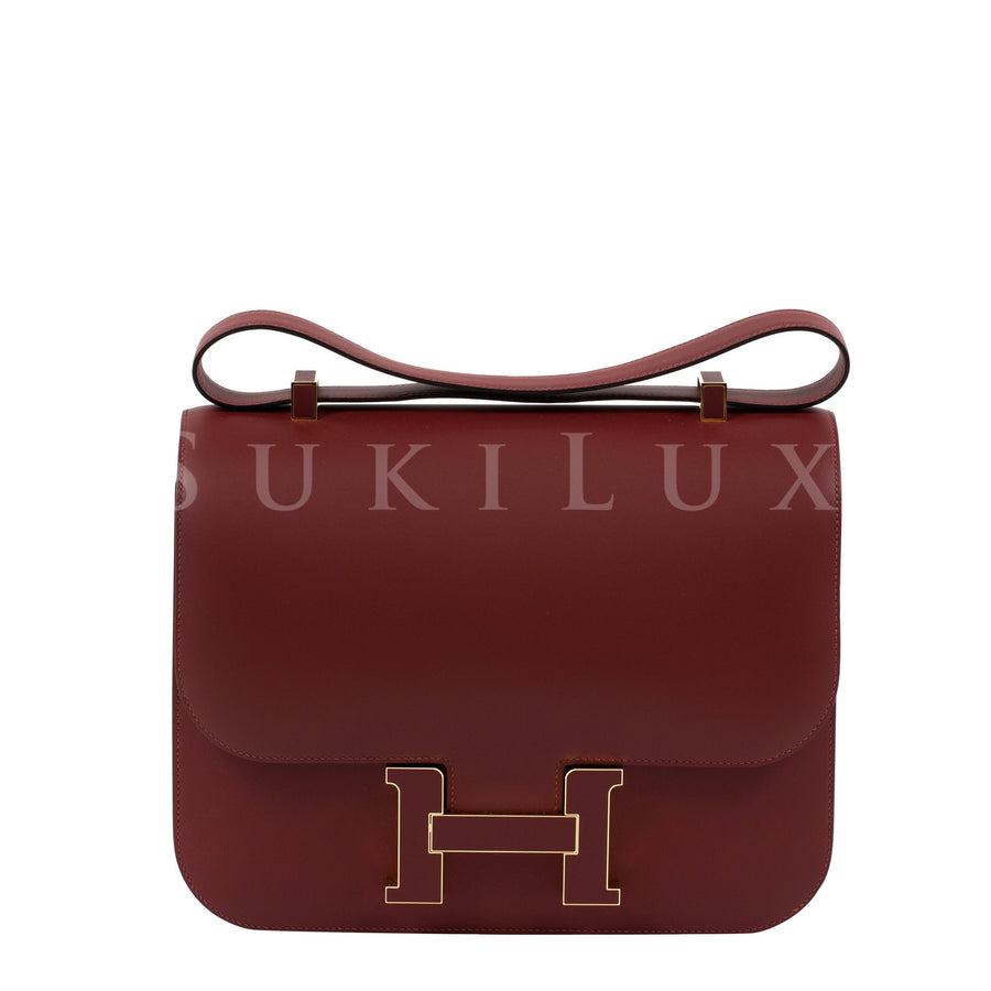 Hermès Constance Cartable 29cm Veau Sombrero Leather Rouge H Hardware