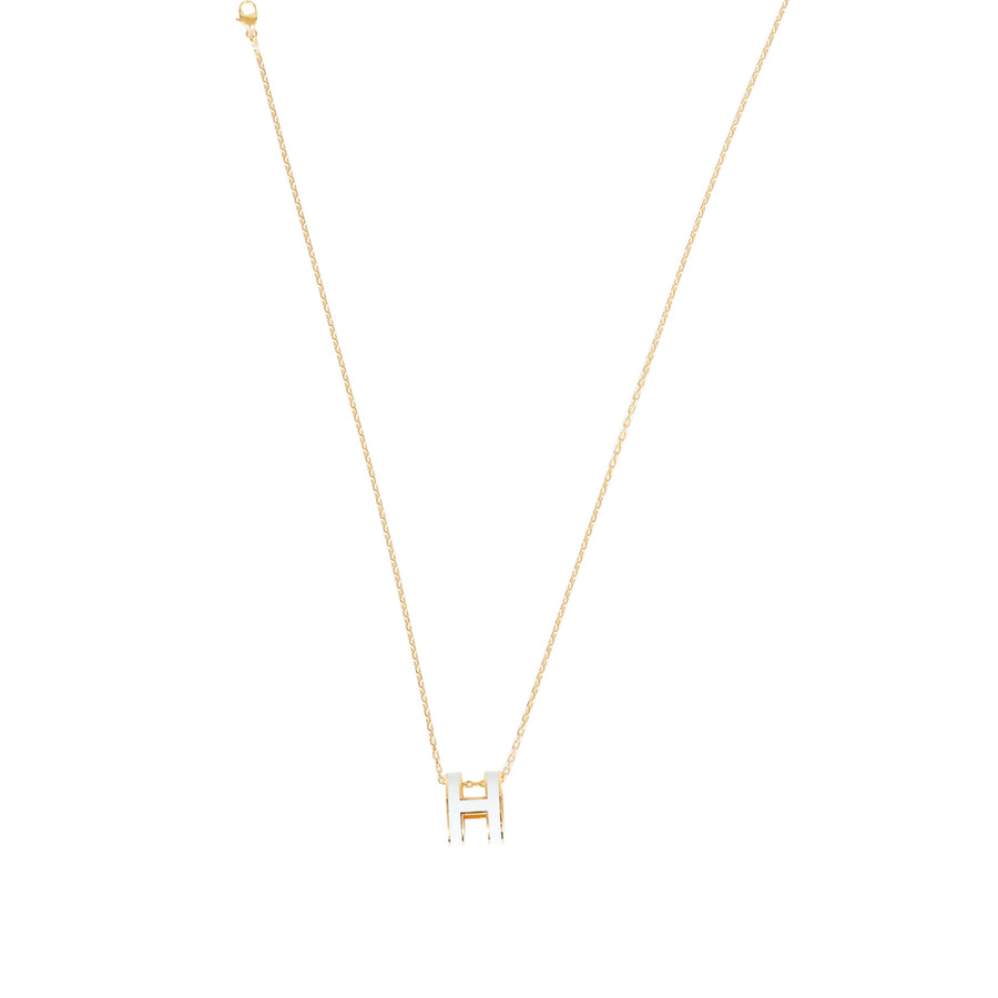 Hermès Pop H Necklace White GOLD PLATED WITH SOFT CHAIN
