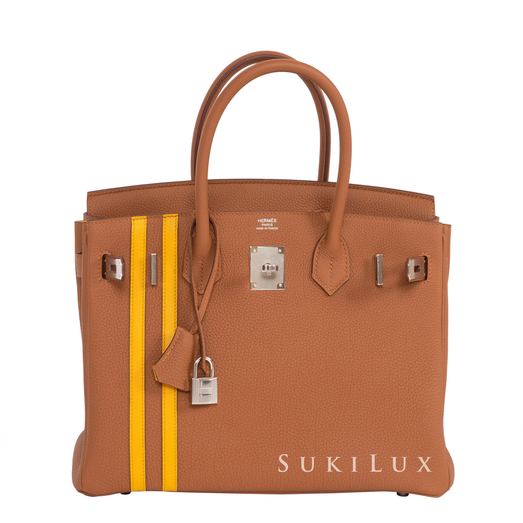 Hermès Birkin 30cm Officier Limited Edition Veau Togo Gold 37/Ambre Palladium Hardware