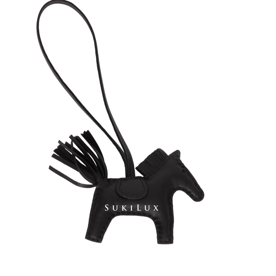 HERMÈS RODEO MINI BAG CHARM NOIR