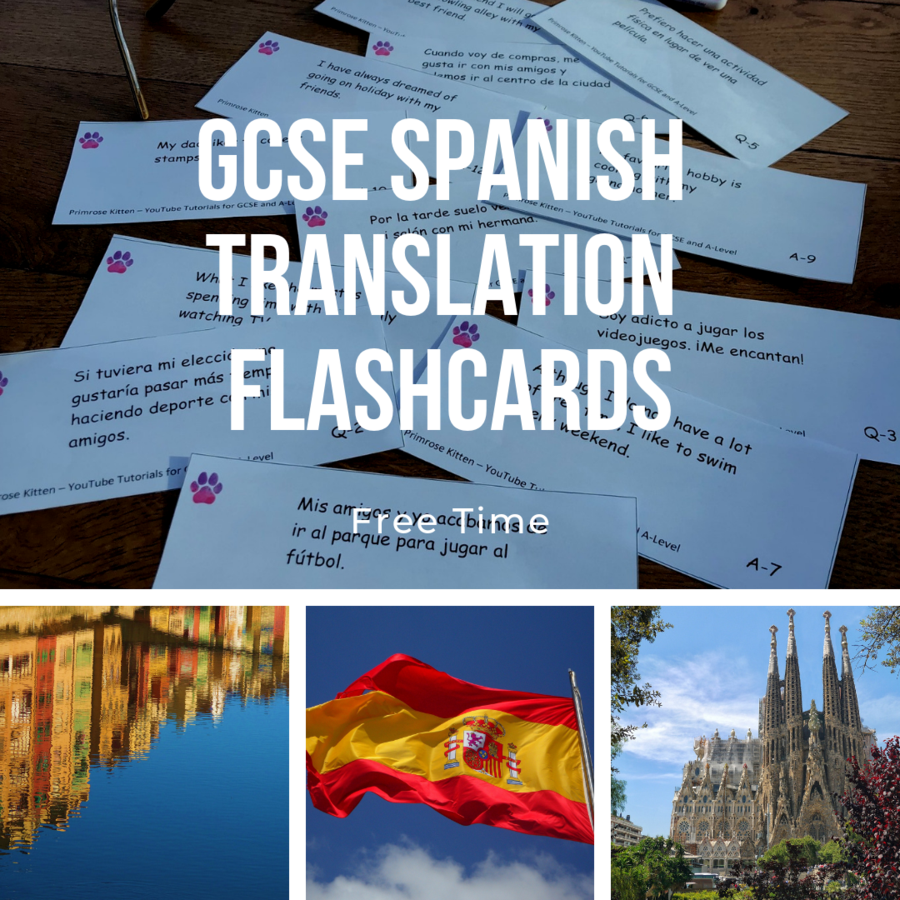 GCSE Spanish Translation Flashcards - My town and area