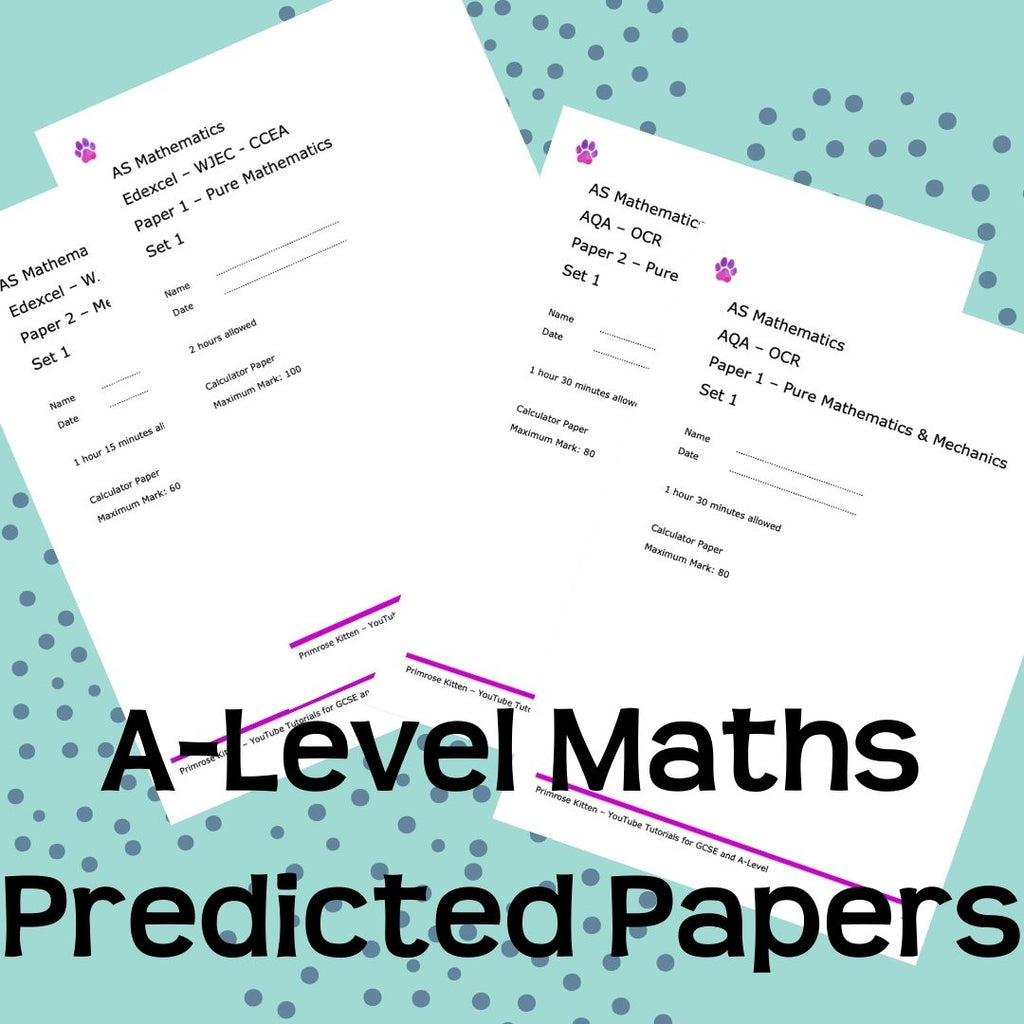 A-Level Maths Predicted Papers