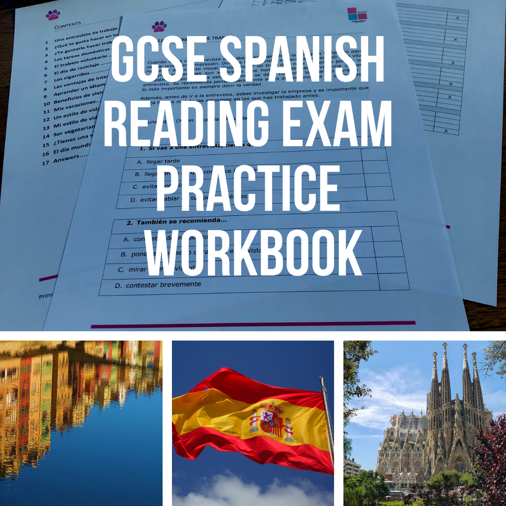 GCSE Spanish Reading Exam Practice Workbook