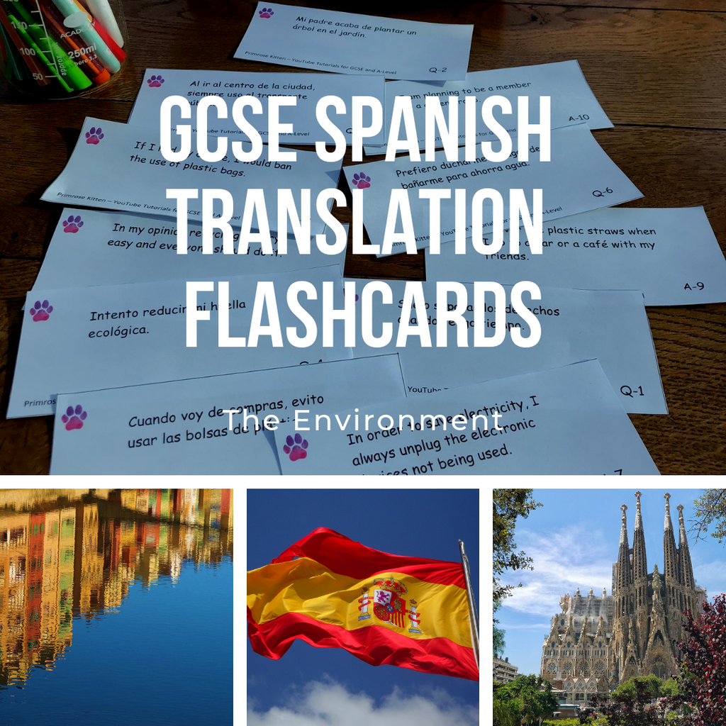 GCSE Spanish Translation Flashcards - The Environment