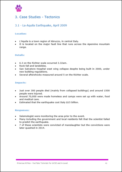 GCSE Geography Case Study Booklet