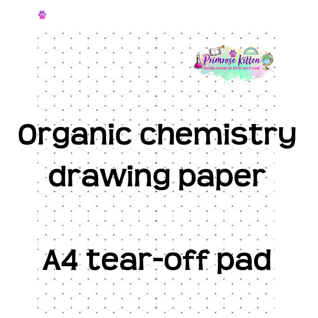 Organic Chemistry Drawing Paper ~ A4 pad ~ 25 sheets