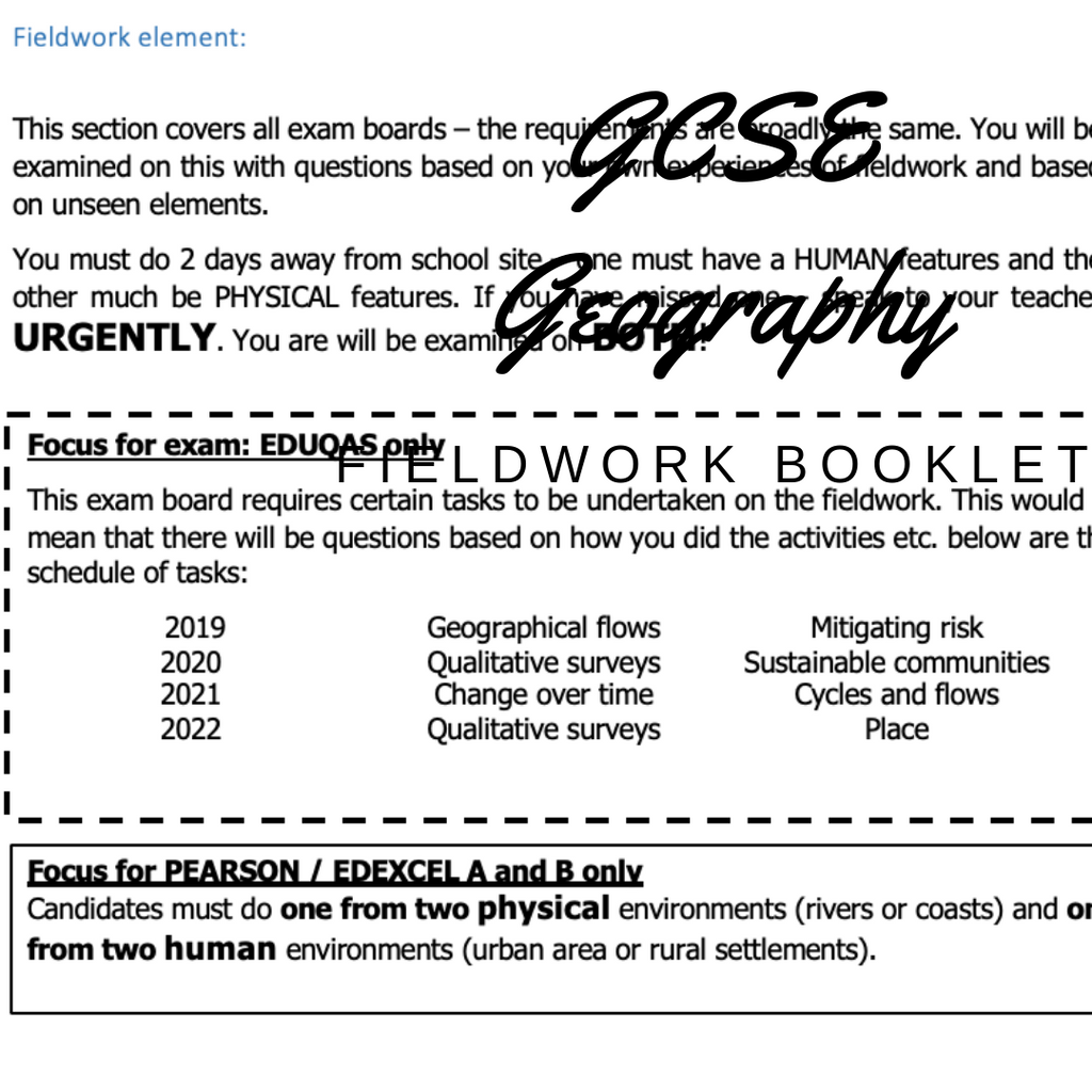 GCSE Geography Fieldwork Guide