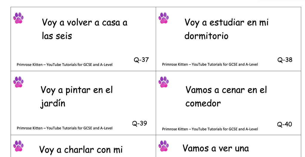 GCSE Spanish Translation Flashcards - Daily Routine