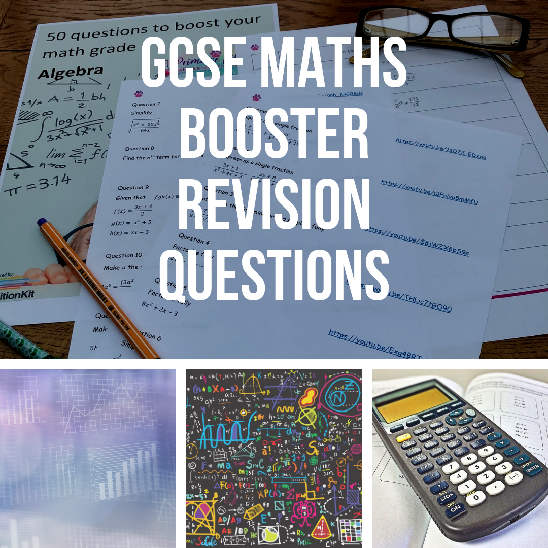 Maths GCSE Grade 7, 8 and 9 Booster Revision Questions
