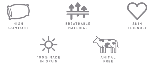 Made in Spain, eco friendly, breathable material