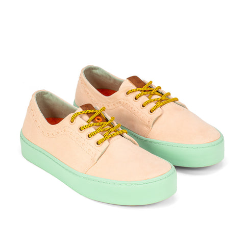 Sneakers - LHASA SALMON TURQUOISE