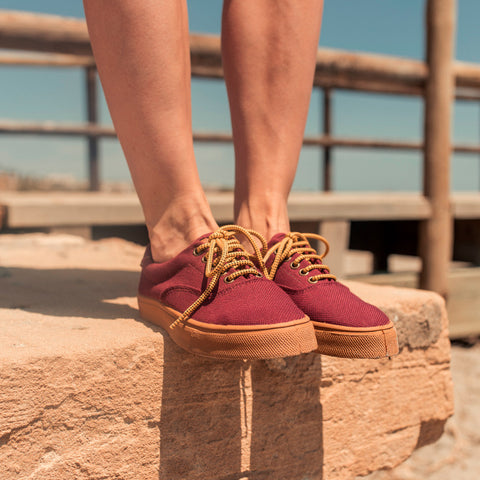 Zapatillas - OSLO RECYCLED BURGUNDY CARAMEL