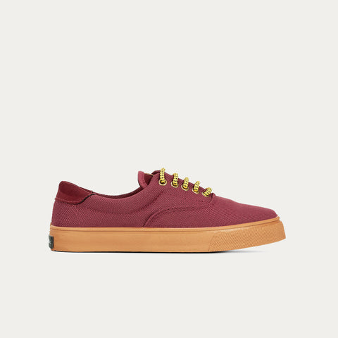 Sneakers - OSLO RECYCLED BURGUNDY CARAMEL