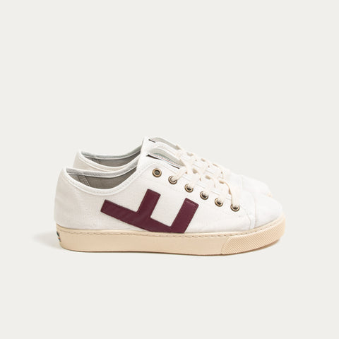 Sneakers - RANCHO WHITE BURGUNDY IVORY
