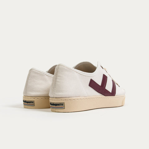 Zapatillas - RANCHO WHITE BURGUNDY IVORY
