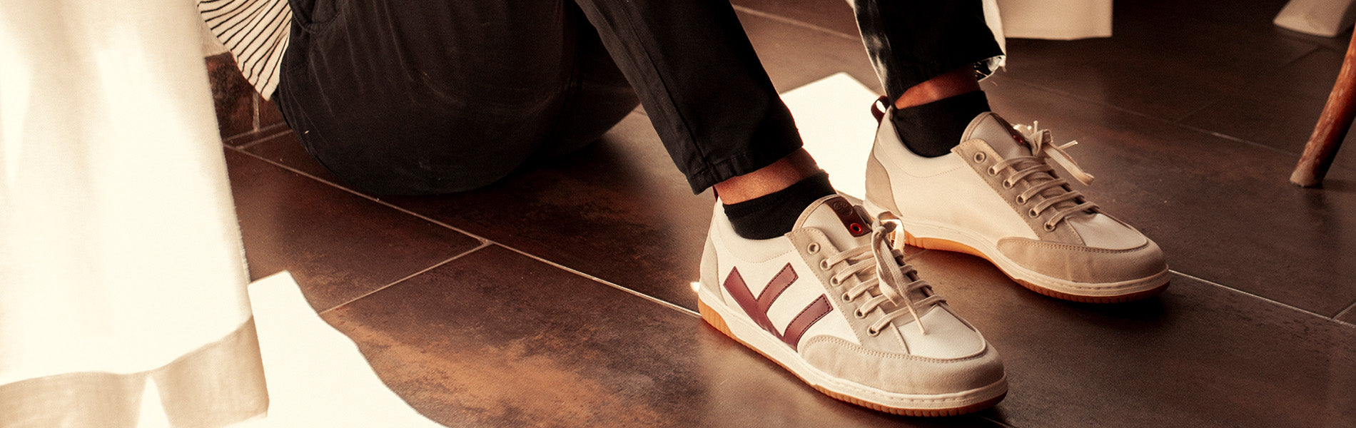 Sneakers - ROLAND BURGUNDY MARFIL