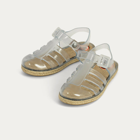Jute Jelly Shoes & Sandals - THE CARIBBEAN TRANSPARENT