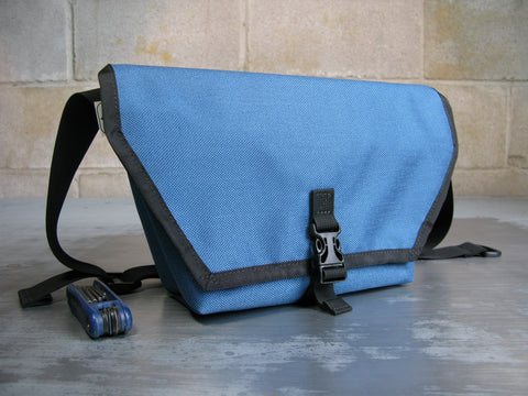 """Cruiser"" Mini Messenger Bag in Slate Blue"