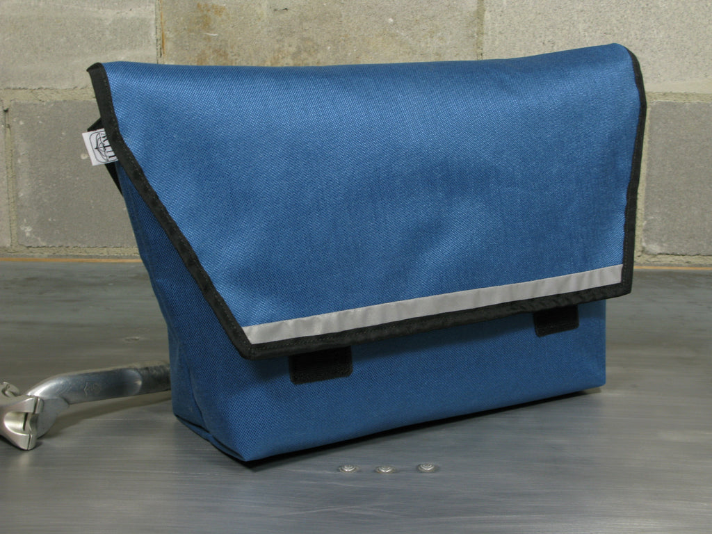 Zenit EveryDay Bag in Slate Blue and Forest Green with Funky One-Off Functional Comfort Strap