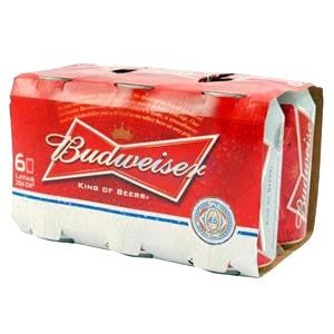 Budweiser 350ml - pack 6 latas