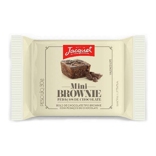 Jacquet Mini Brownie Pedaços Chocolate 30g