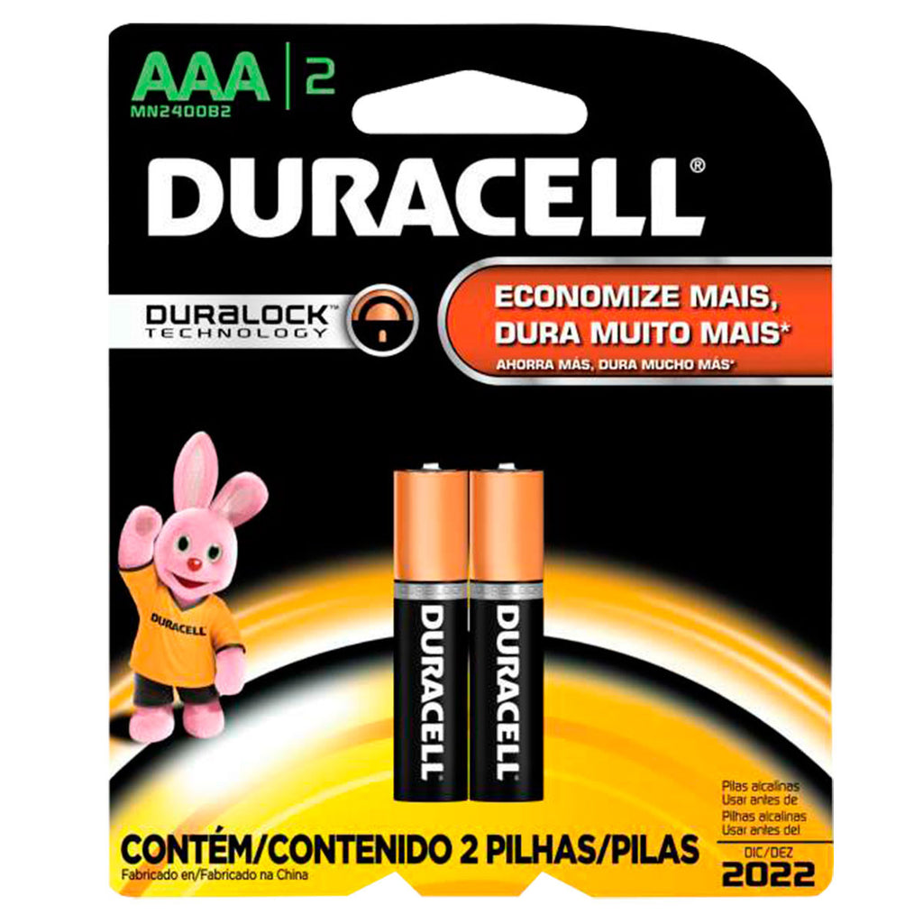 Duracell Pilha AAA Palito c/2